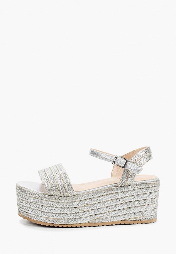 женские сандалии bellamica, серебряные
