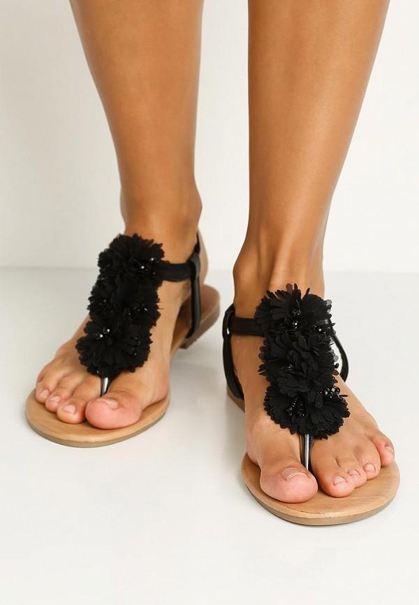 Фото 15 - женские сандали Bellamica черного цвета