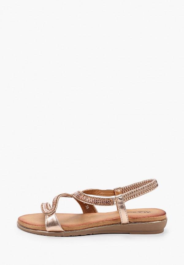женские сандалии bellewomen, золотые