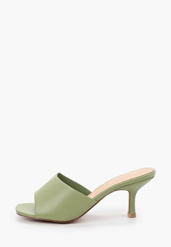 женское сабо bellewomen, зеленое