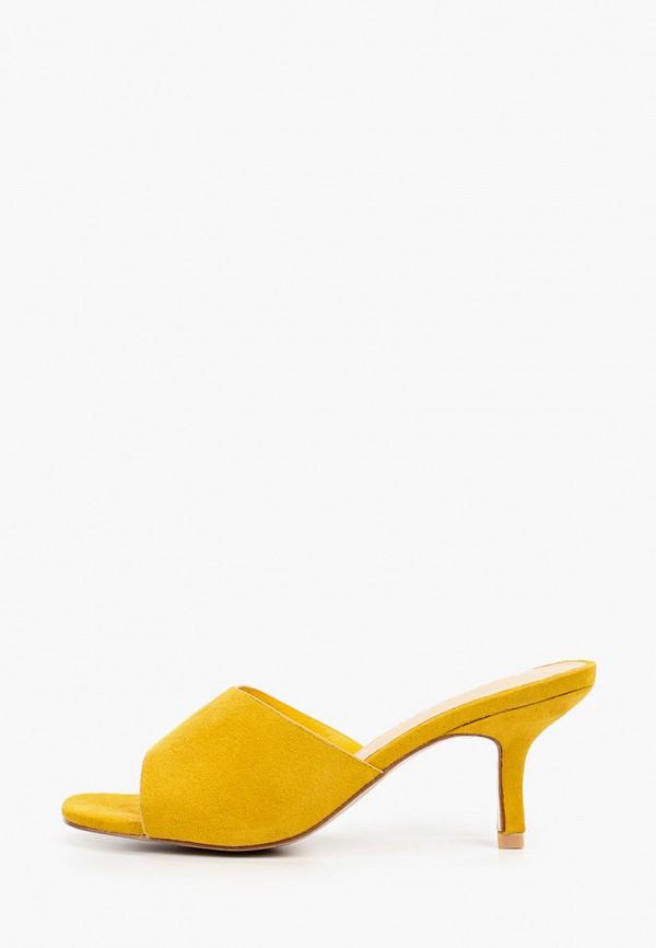 женское сабо bellewomen, желтое