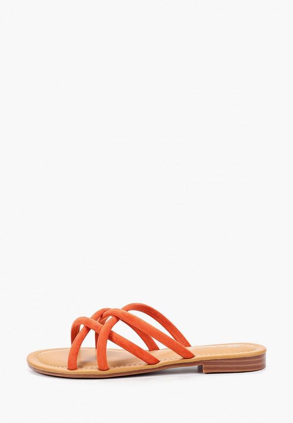 женское сабо bellewomen, оранжевое