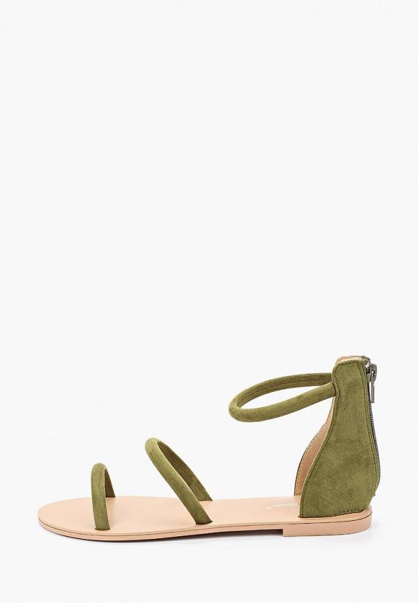 женские сандалии bellewomen, зеленые