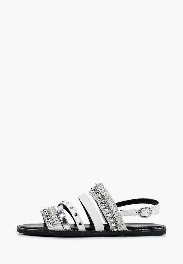 женские сандалии bellewomen, серебряные