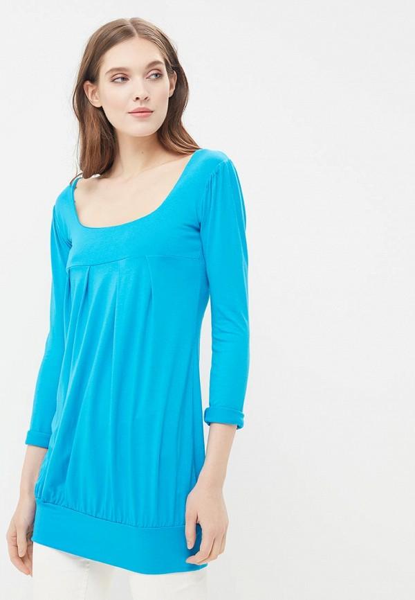 женское повседневные платье beyou, голубое