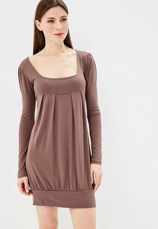 женское повседневные платье beyou, коричневое