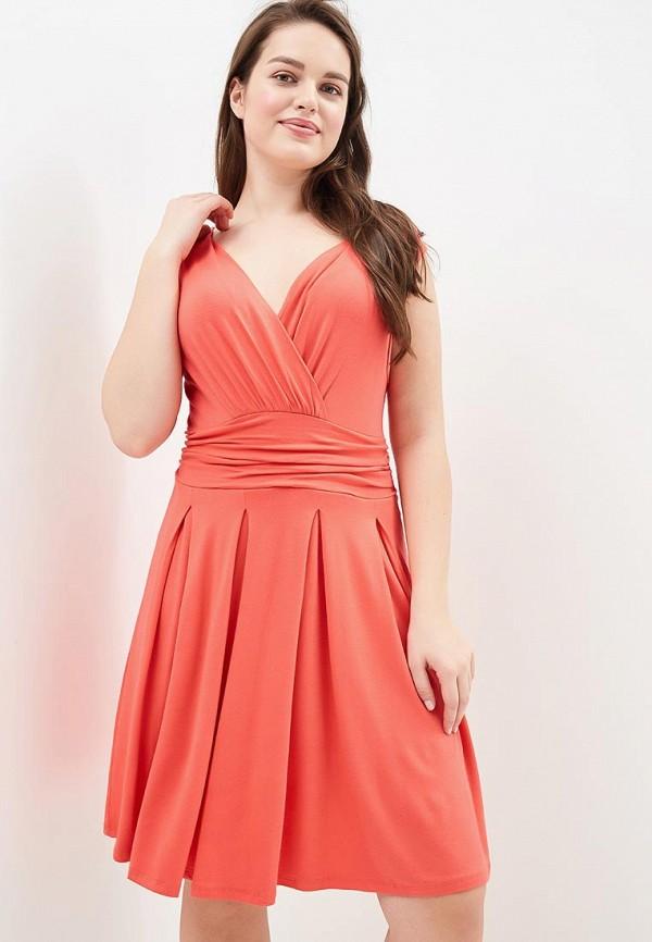 Купить Платье BEyou, be085ewbirs8, коралловый, Весна-лето 2018
