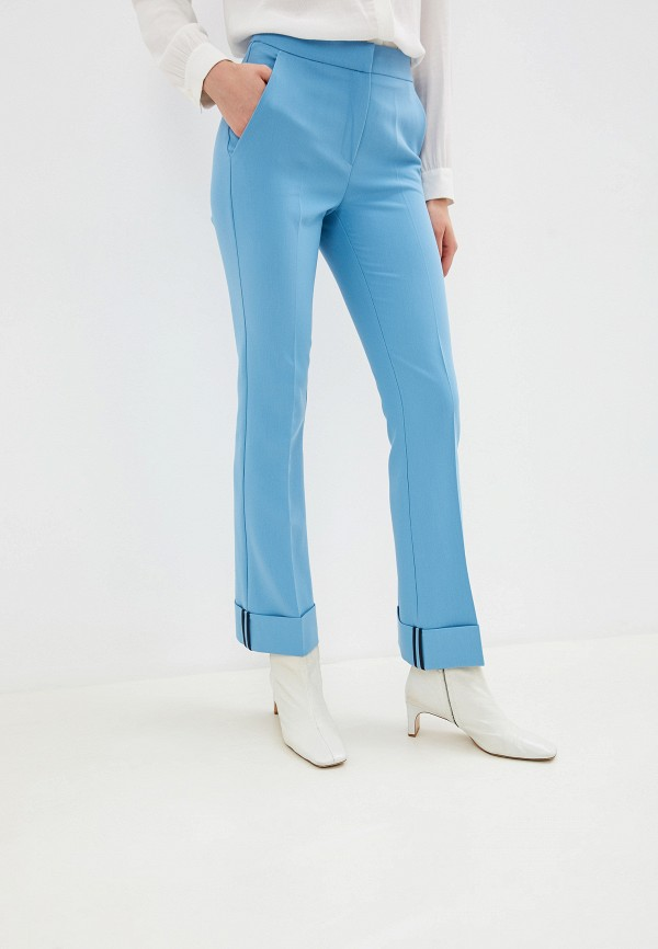 женские классические брюки beatrice.b, голубые