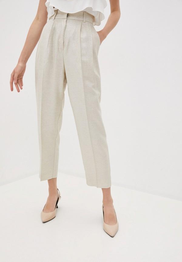женские повседневные брюки beatrice.b, золотые
