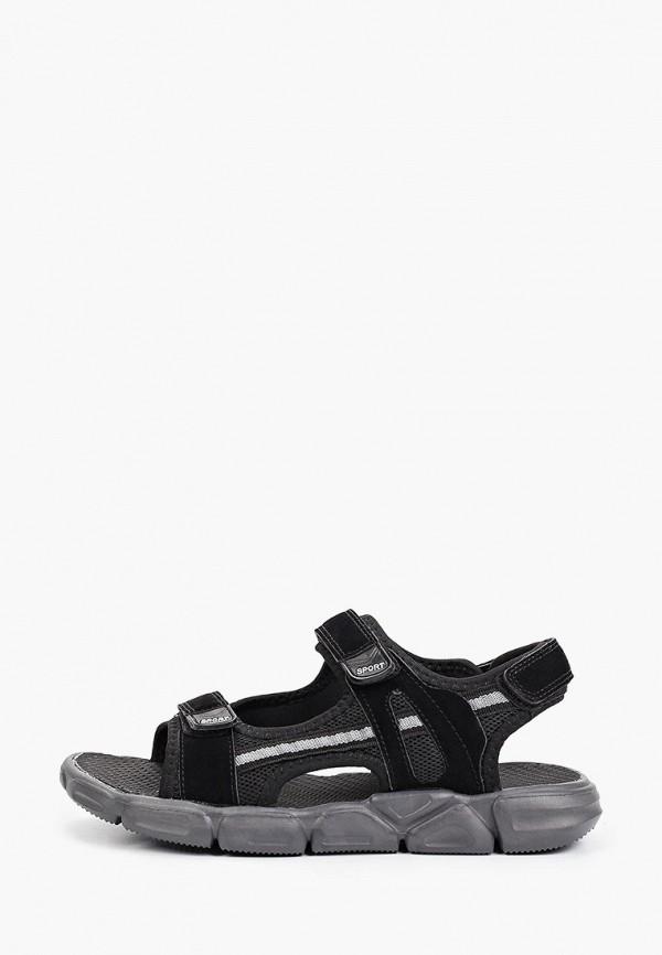 сандалии berten для мальчика, черные