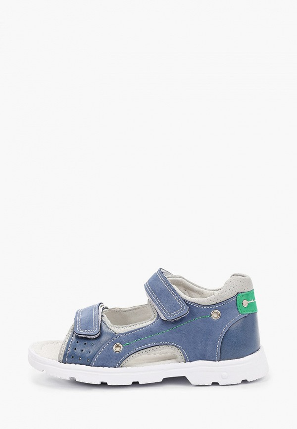 сандалии berten для мальчика, голубые