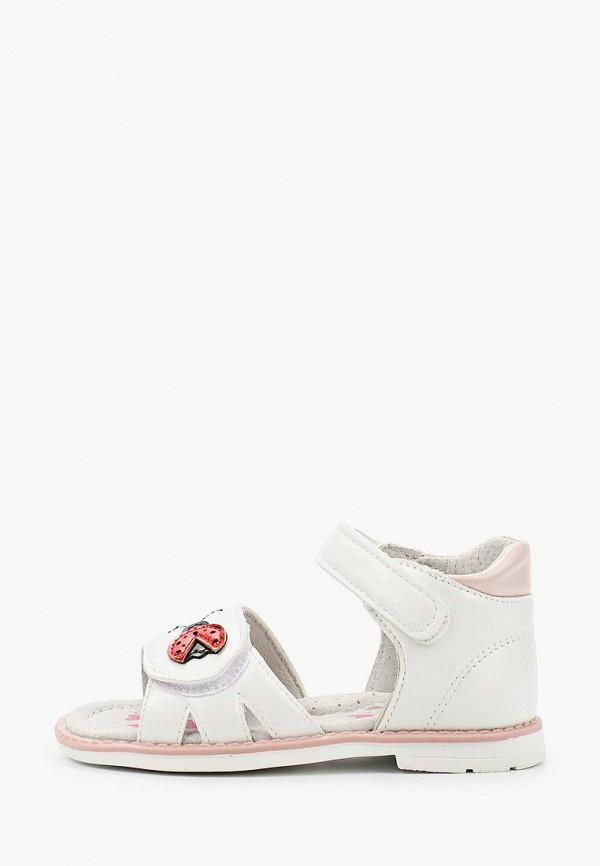 сандалии berten для девочки, белые