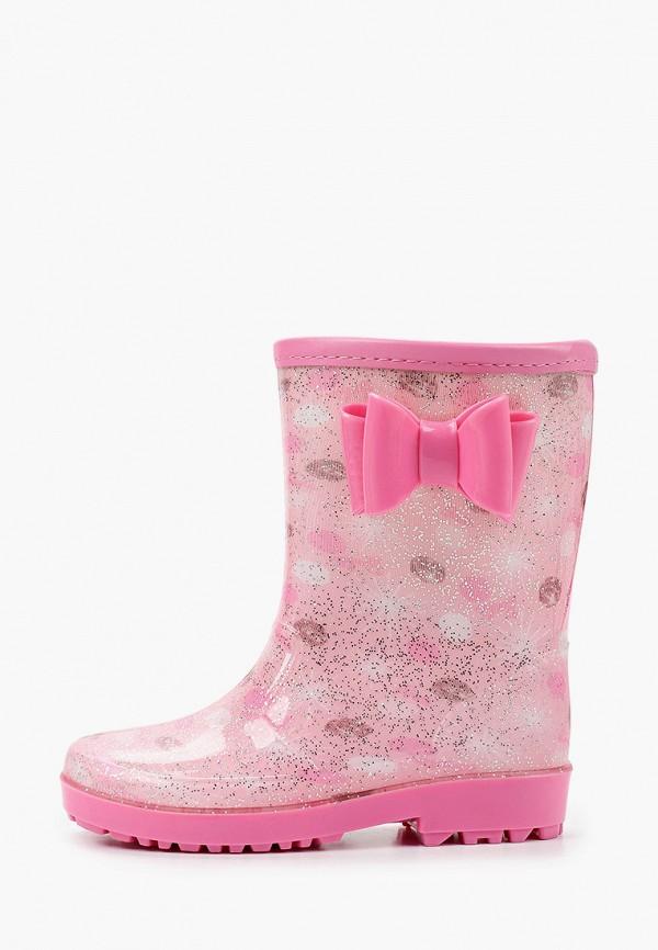 резиновые сапоги berten для девочки, розовые