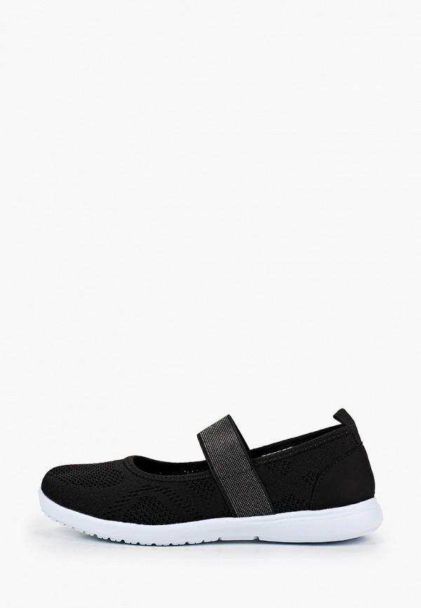 туфли berten для девочки, черные