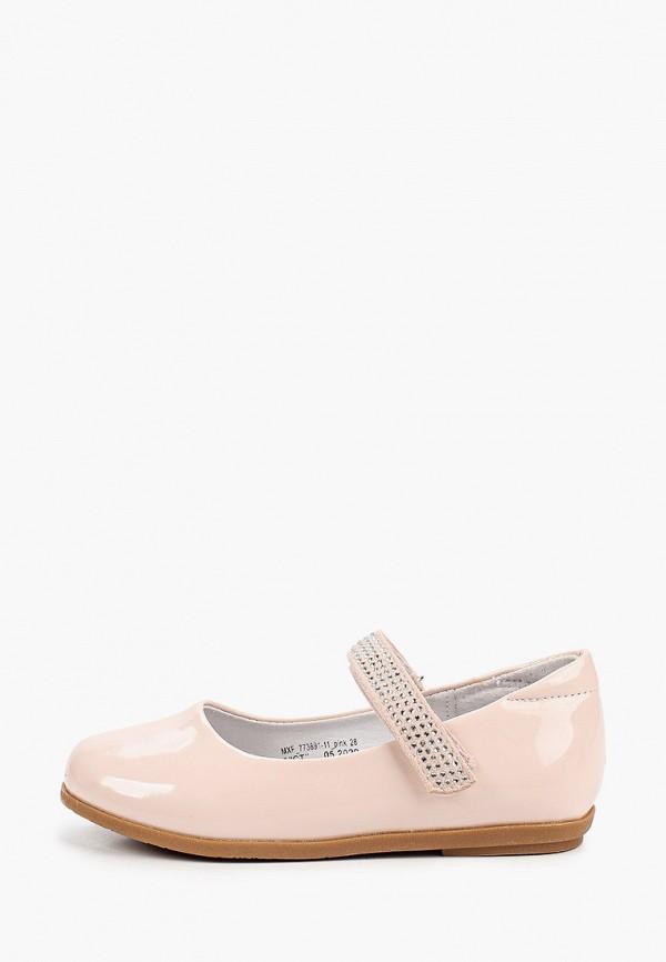 туфли berten для девочки, бежевые