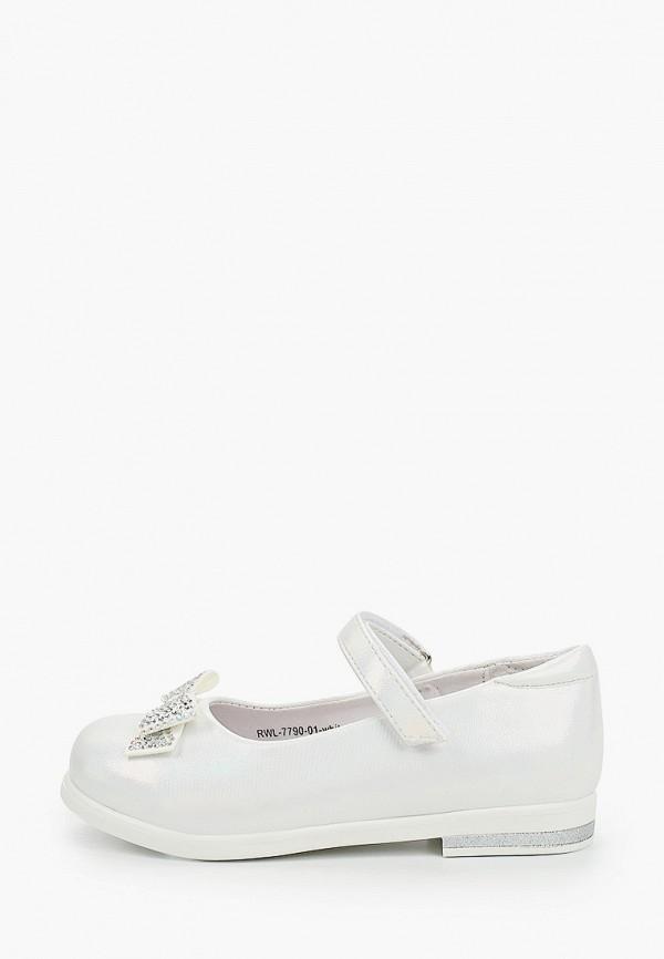 туфли berten для девочки, белые