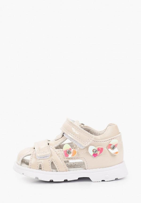 сандалии berten для девочки, бежевые