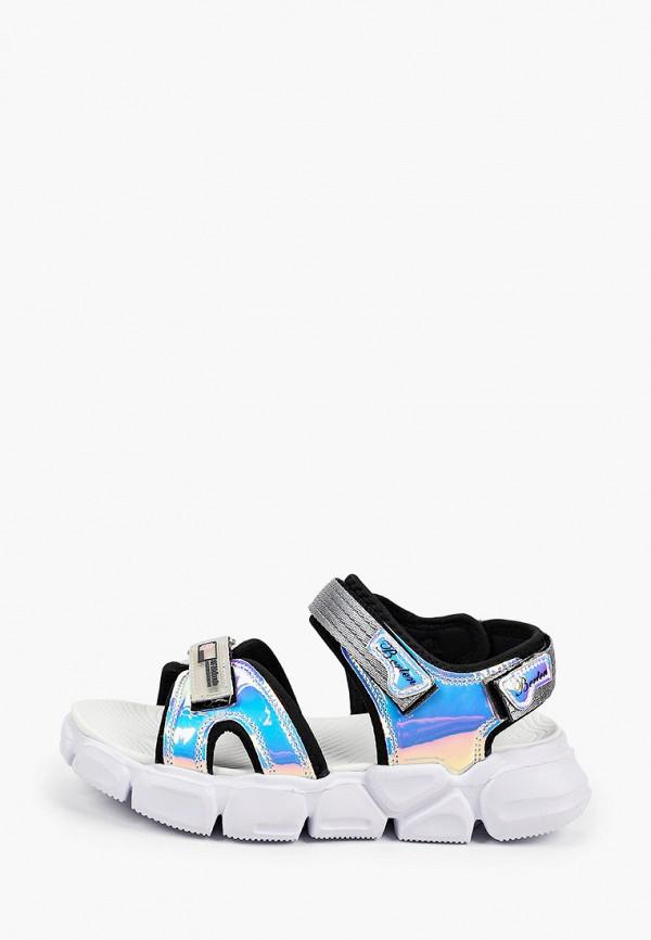 сандалии berten для девочки, разноцветные