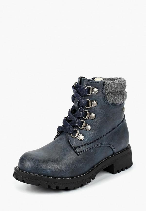 ботинки beppi для девочки, синие