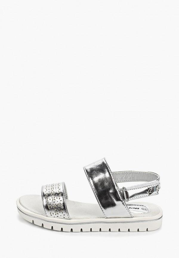 сандалии beppi для девочки, серебряные
