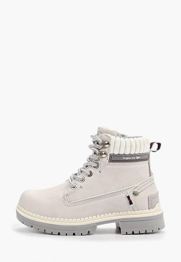 ботинки beppi для девочки, серые