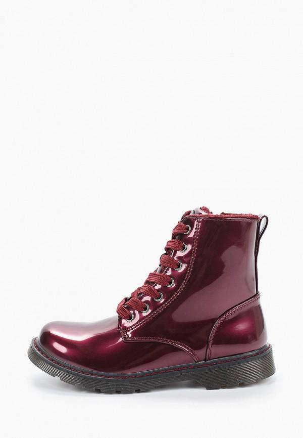 ботинки beppi для девочки, бордовые