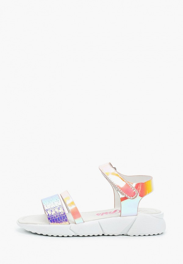 сандалии beppi для девочки, разноцветные