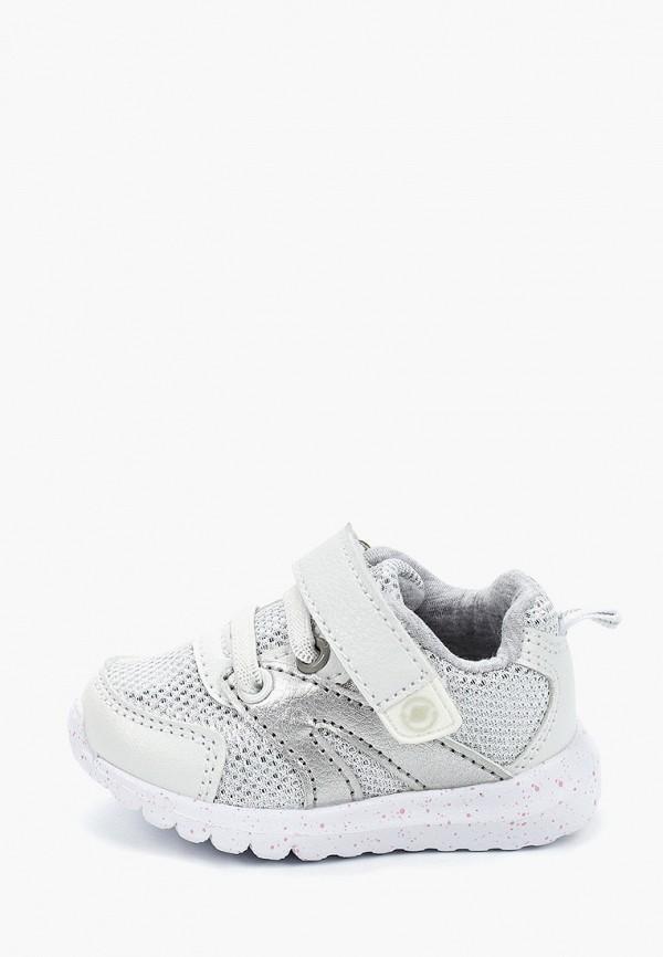 кроссовки beppi для девочки, серебряные
