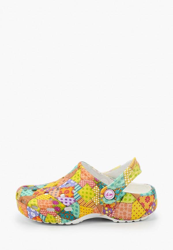 сабо beppi для девочки, разноцветное