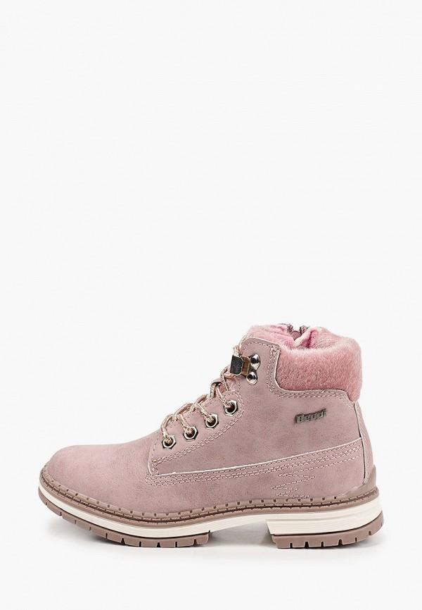 ботинки beppi для девочки, розовые