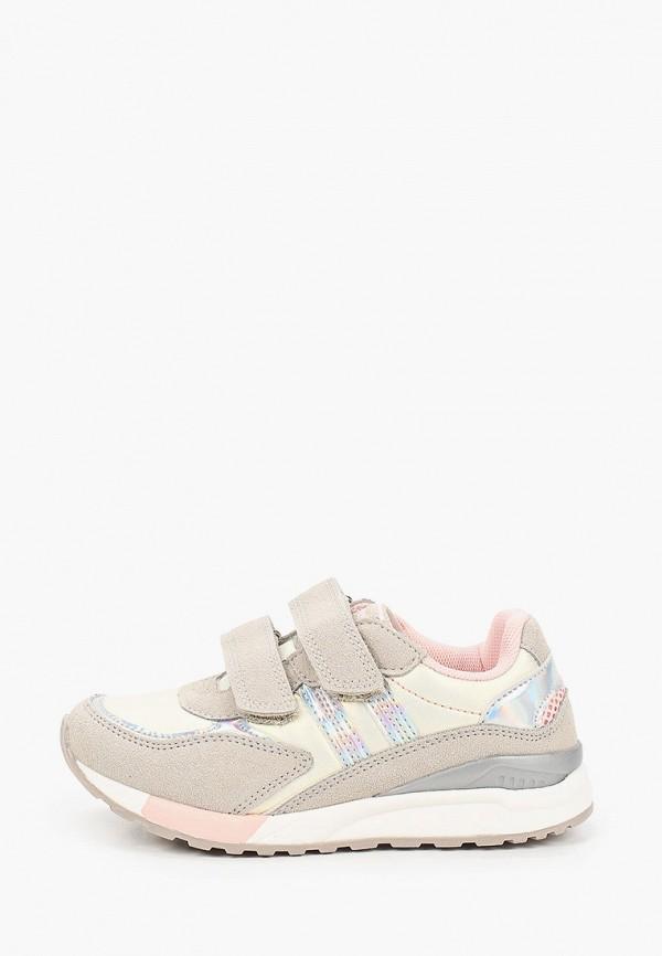 кроссовки beppi для девочки, бежевые