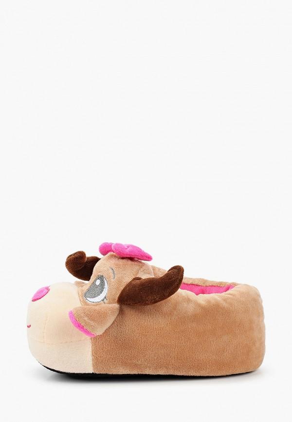 тапочки beppi для девочки, коричневые