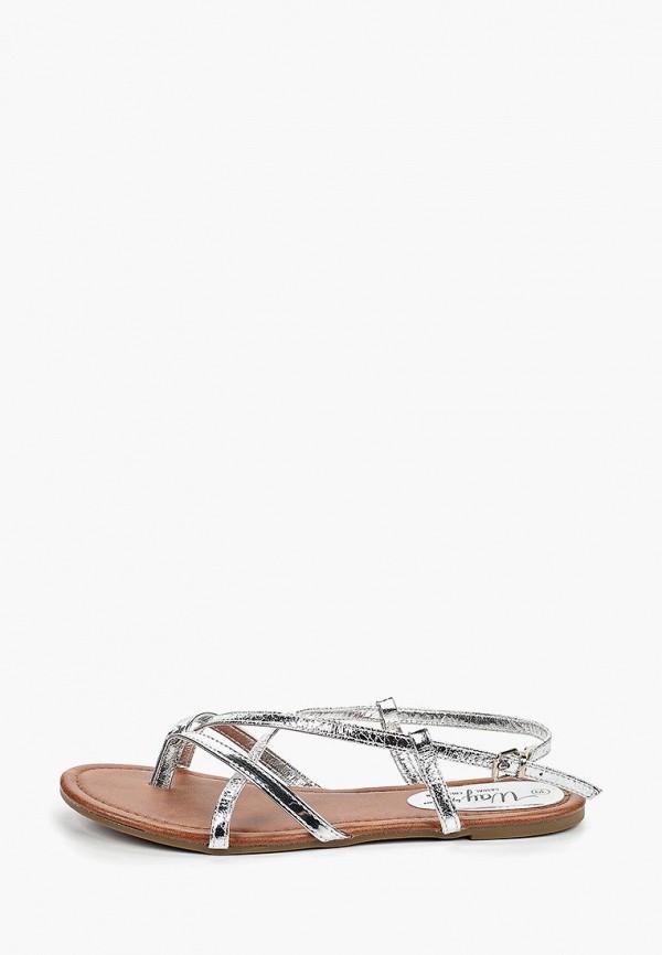 женские сандалии beppi, серебряные