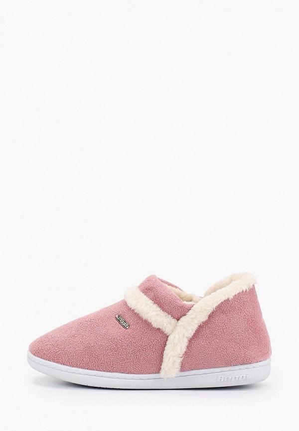 женские тапочки beppi, розовые