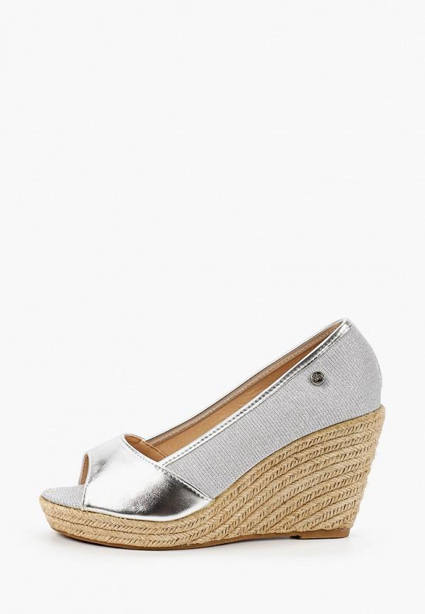 женские туфли beppi, серебряные
