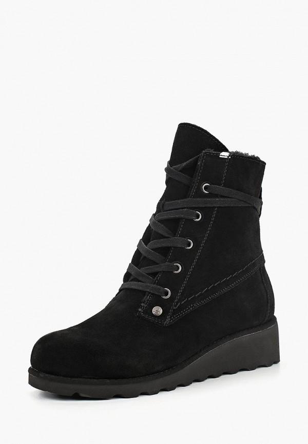 женские ботинки bearpaw, черные