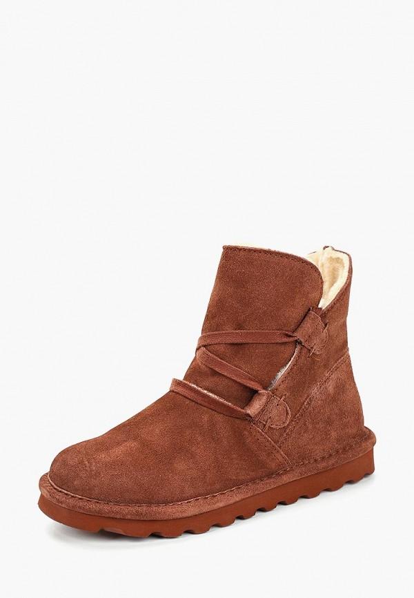 женские ботинки bearpaw, коричневые
