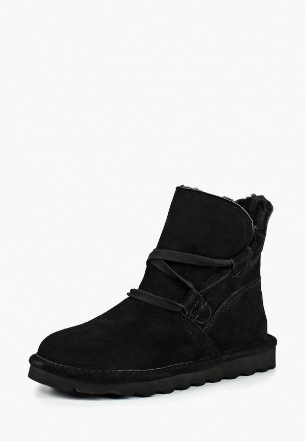 женские высокие ботинки bearpaw, черные