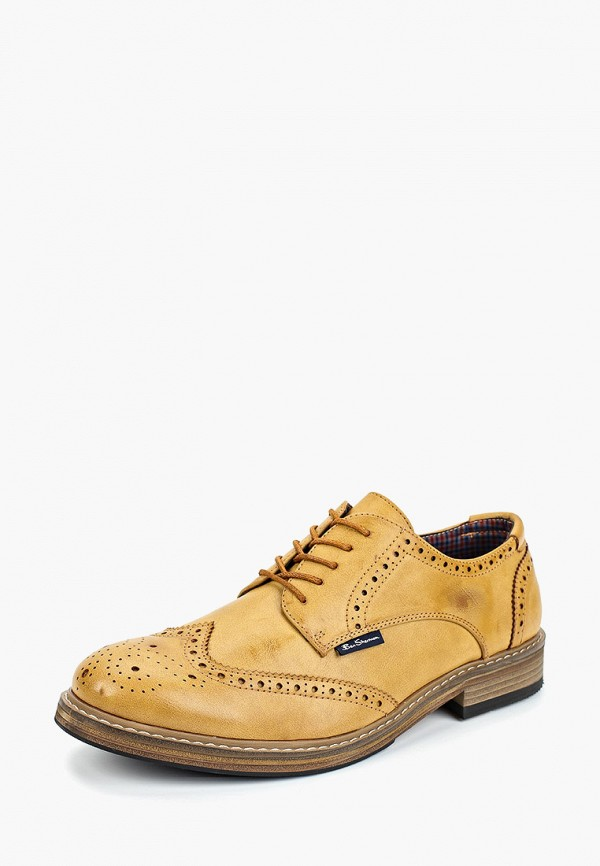 Фото 2 - мужские туфли Ben Sherman желтого цвета