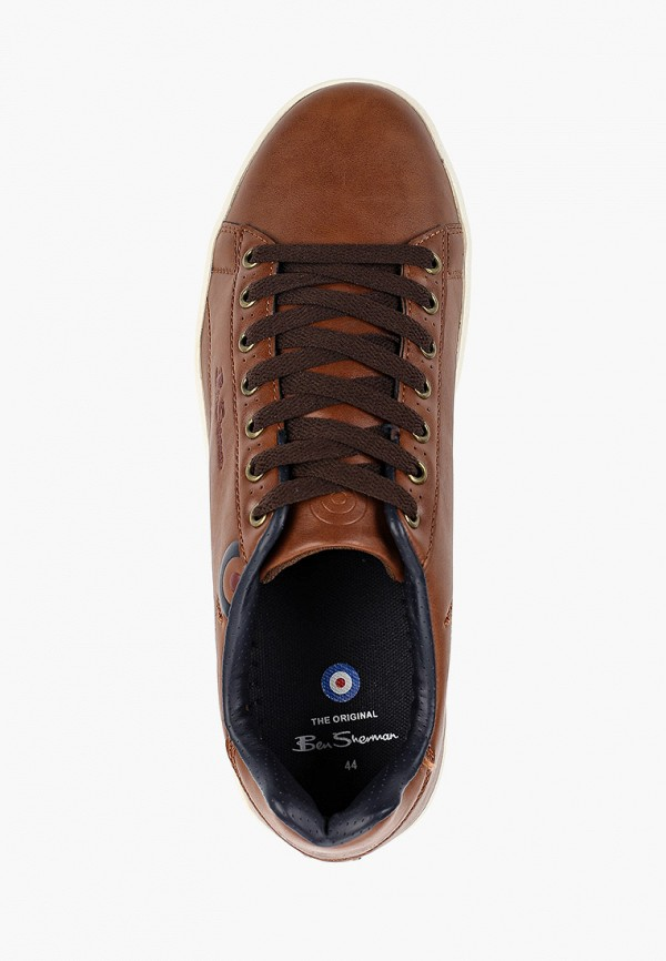 Фото 4 - мужские кеды Ben Sherman коричневого цвета