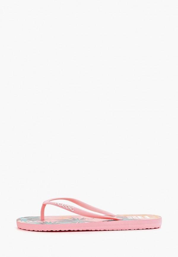женские сланцы billabong, розовые