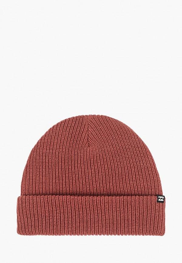 мужская шапка billabong, коричневая