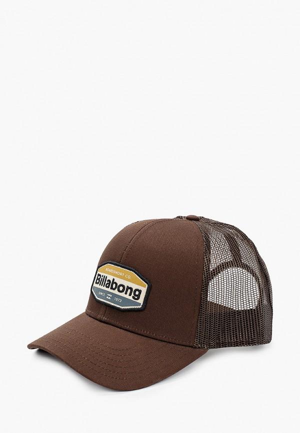 мужская бейсболка billabong, коричневая