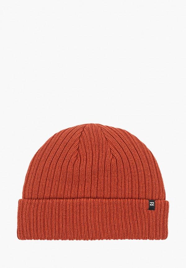 мужская шапка billabong, оранжевая
