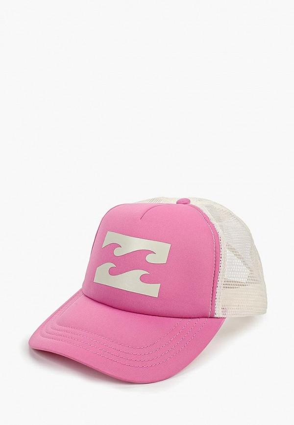 женская бейсболка billabong, розовая