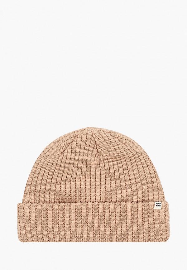 женская шапка billabong, бежевая