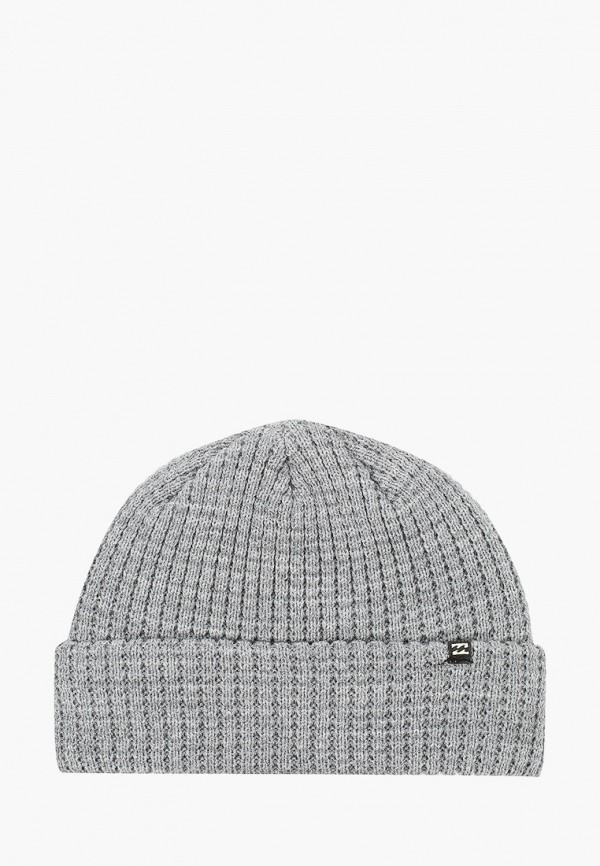 женская шапка billabong, серая