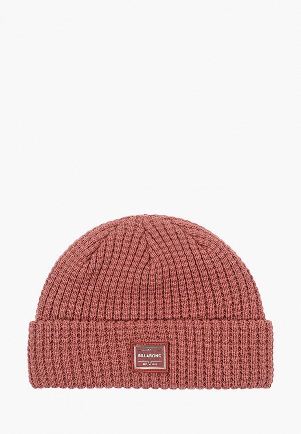 женская шапка billabong, розовая