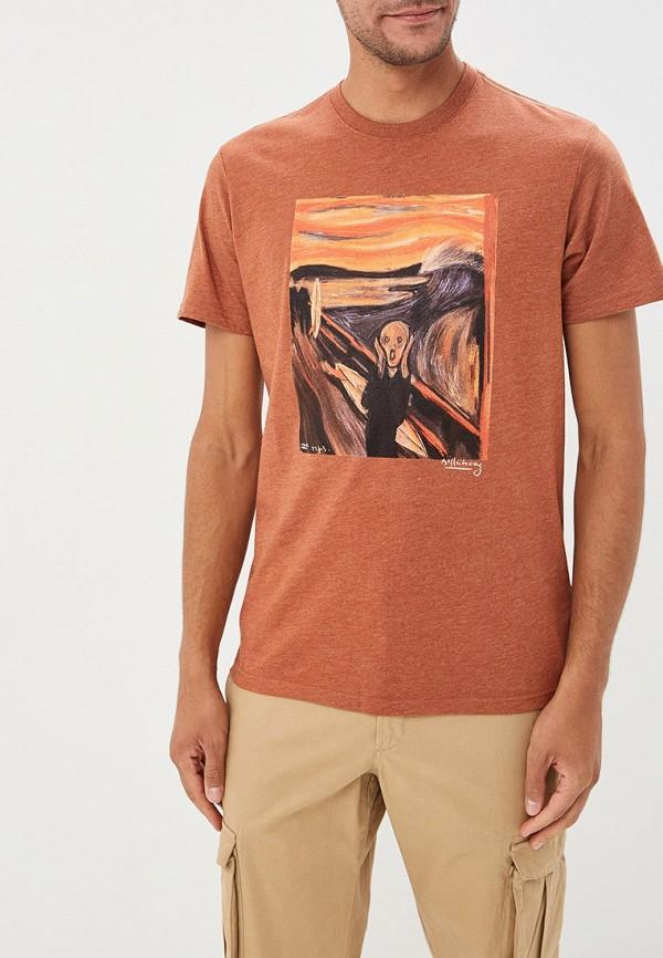 мужская спортивные футболка billabong, коричневая