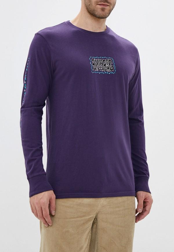 мужской лонгслив billabong, фиолетовый